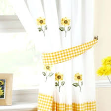 Sunflower Yellow Curtains Sunflower Curtains For Kitchen Setbi Club