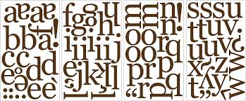 brown alphabet wall sticker set espresso brown alphabet wall sticker set