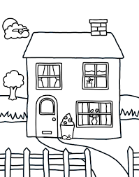 houses color print adults coloring pages