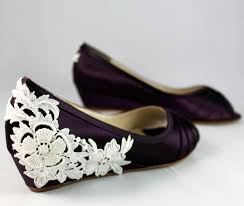 wedding shoes low wedges purple wedding shoes wedge low heel 1 inch wedge shoes ivory