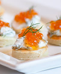 bellini canape caviar blini tatyanas everyday food
