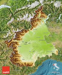 Italy Physical Map by Physical Map Of Piemonte Satellite Outside