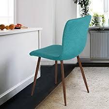 stuhl esszimmer 4er stuhl set coavas stoff kissen küche stühle mit soliden metall