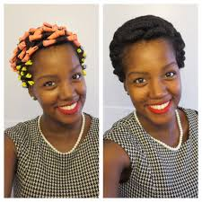 Cute Hairstyles For Short Permed Hair by Natural Hair Perm Rod Set On Short Natural Hair Youtube