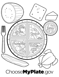 myplate coloring page kids coloring europe travel guides com
