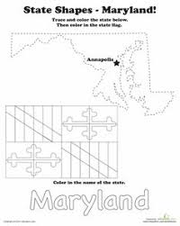 md flag coloring sheet for kindergarten united states state