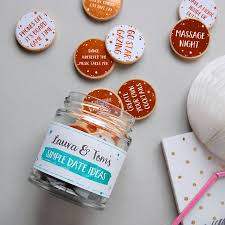personalised couple u0027s date ideas jar by clara and macy
