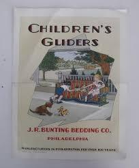 Vintage Furniture Stores Indianapolis Original Bunting 1928 Antique Children U0027s Glider Brochure Vintage