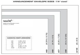 Envelopes Size Correspondence And Announcement Envelope Sizes Dimensions
