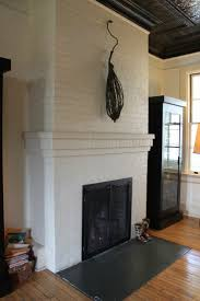 painted fireplace hearth tile remove bricks and put down slate to