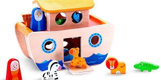 premium wooden u201cnoah u0027s ark u201d playset toy boat u0026 shape sorter for