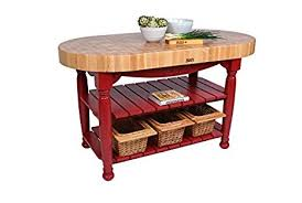 amazon com american heritage harvest kitchen island with butcher