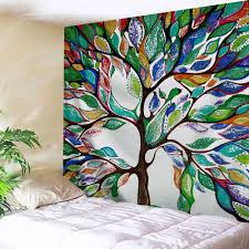 2017 tree of wall hanging fabric tapestry for colormix w