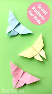easy origami butterfly ted s