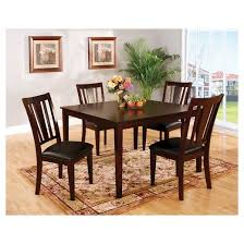 Dining Room Tables Set Iohomes 7pc Simple Dining Table Set Wood Espresso Target