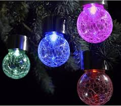 Outdoor Hanging Lights For Trees Outdoor Solar Powered Led Hanging L Decorative Colorful Led