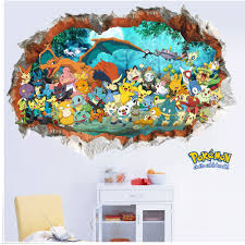 creative removable 3d pokemon wall stickers for kids rooms creative removable 3d pokemon wall stickers for kids rooms adhesive nursery wall decals for children living
