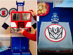 optimus prime birthday party trans 4 mers birthday party transformer party kara s