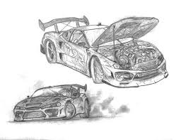 coloring pages drifting cars sketch of drifting cars colouring page sketch of drifting cars