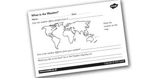 what is weather worksheet what is the weather weather around