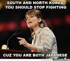 Japanese Meme - south and north korea you should stop fighting cuz you are both