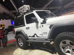 white jeep wrangler 4 door black rims mopar modified 2018 jeep wrangler sport at the 2017 la auto show