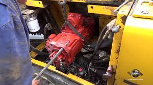how to install a hydraulic pump on an excavator youtube