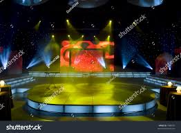 Space Stage Studios by Stage Lights Studio Prepared Production Shooting Stock Photo
