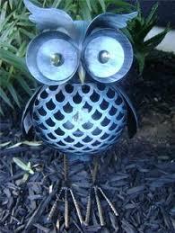 hanging metal owl apple bird feeder for the garden garden