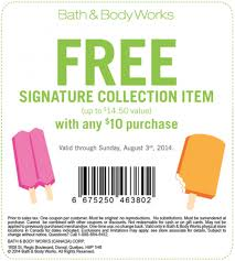 free item bath and body works coupon rock and roll marathon app