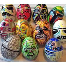 painted easter eggs my friend just painted these easter eggs starwars