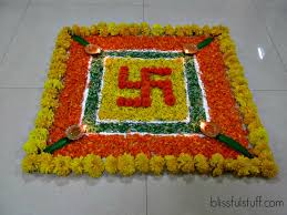 decor rangoli decoration with flowers beautiful home design