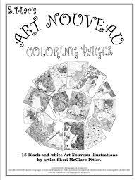 s mac u0027s art nouveau coloring pages u2013 downloadable coloring book