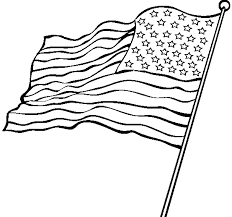Black And White American Flag American Flag Clipart Printable Pencil And In Color American