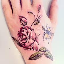 bee and flower tattoos on tattooshunt com