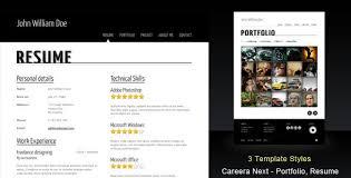 resume portfolio template careera next themeforest resume portfolio html template html