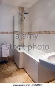 Contemporary Tile Bathroom Modern Tiled Bathroom Uk With Bath Bidet And Toilet Stock Photo