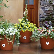 creative of flower planter ideas for patio best patio planters