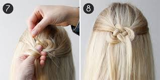 celtic wedding hairstyles hair how to celtic knot half updo more com