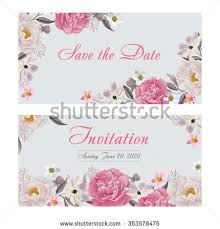greetings for wedding card flower wedding invitation card save date stock vector 353578475