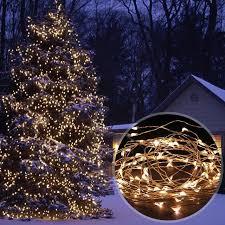 solar power led lights 100 bulb string solar powered 33ft 10m 100 leds starry string lights copper wire