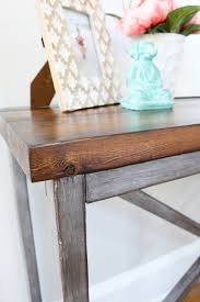 How To Paint Wood Furniture by Painting Wood To Look Like Metal Bower Power