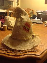 halloween scarecrow costume ideas scarecrow hat i made for my baby boy crafty pinterest
