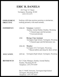 Veterinarian Resume Sample by 28 Resume Objective Sample First Job First Job Resume