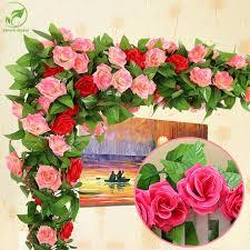 roses wholesale online shop wholesale 245cm silk roses vine artificial