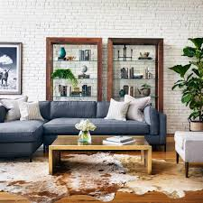 Modern Classic Furniture Diorama Modern Classic Charcoal Left Arm Chaise Sectional Sofa