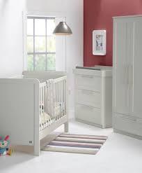 rialto contemporary cotbed 3 piece nursery furniture set grey