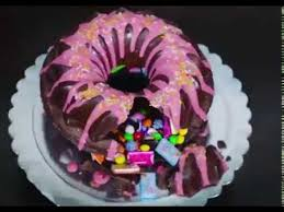how to make a giant donut cake youtube recetas pinterest