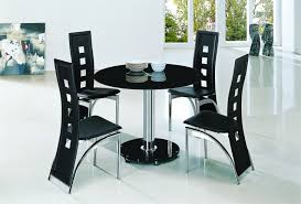 planet large round clear glass dining table with amalia chairs