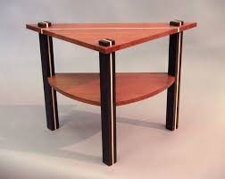 rustic wedge end table triangle end tables dosgildas com